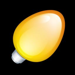Christmas Light Bulb Yellow Icon Png Clipart Image Iconbug Com