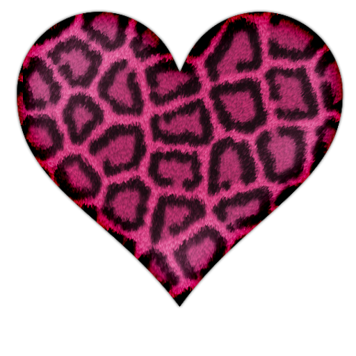 Aninimal Book: Pink Heart With Leopard Print Icon, PNG ClipArt Image ...
