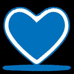 Blue Sketch Heart Icon Png Clipart Image Iconbug Com
