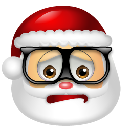 Geeky Santa Icon Png Clipart Image Iconbug Com