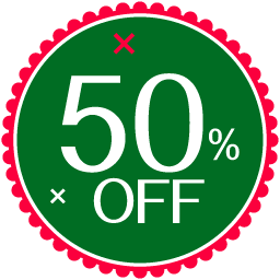 50 percent off christmas badge icon png clipart image iconbug com