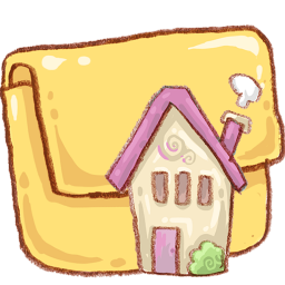 Cute Pink House And Folder Icon Png Clipart Image Iconbug Com