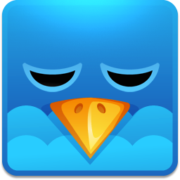 twitter bird sleeping