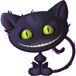Scary Violet Cat Icon Png Clipart Image Iconbug Com