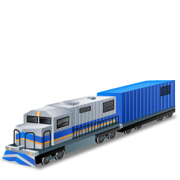 Blue And White Diesel Train Icon Png Clipart Image Iconbug Com