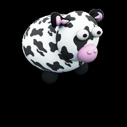 Cute Cow Icon Png Clipart Image Iconbug Com