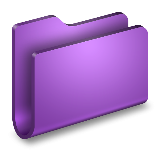 3D Purple Folder Icon ...