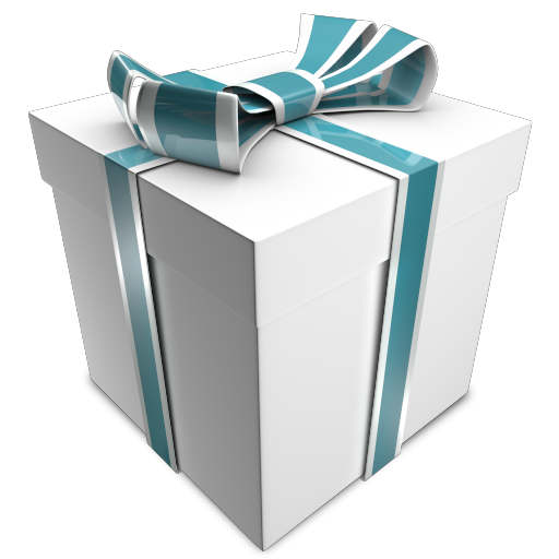 D christmas gift white icon png clipart image iconbug