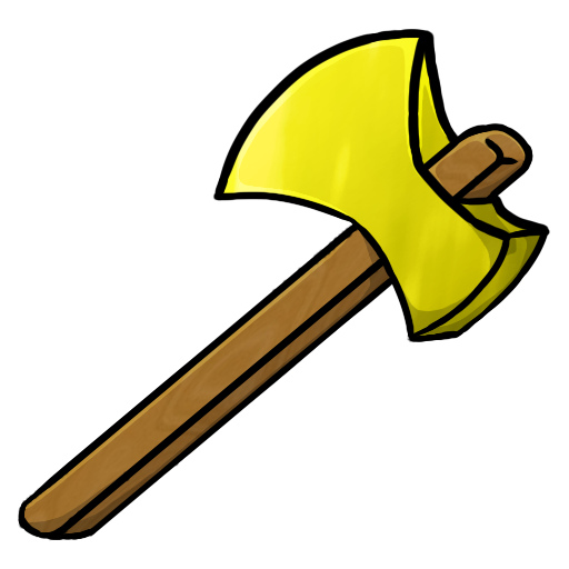 Ax Head Clip Art : Minecraft gold axe icon png clipart image iconbug