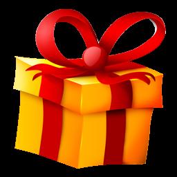 Yellow Christmas Gift Icon Png Clipart Image Iconbug Com