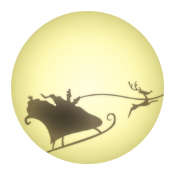Santa Claus On Moon Icon Png Clipart Image Iconbug Com