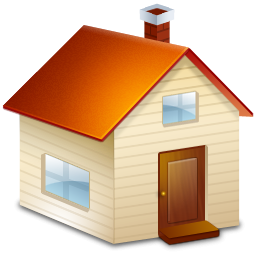 Brown house with chimney icon png clipart image for Png home designs