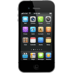 IPhone 4 Black Phone Icon, PNG ClipArt Image | IconBug.com