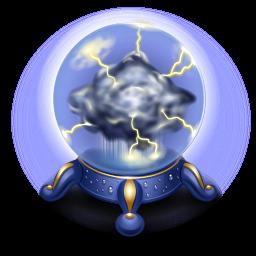 Thunderstorm Crystal Ball Icon Png Clipart Image Iconbug Com
