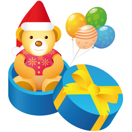 Free clipart picture happy birthday png happy birthday cute - Christmas Gift Teddy Bear Icon Png Clipart Image