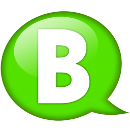 Green Speech Balloon B Icon Png Clipart Image Iconbug Com