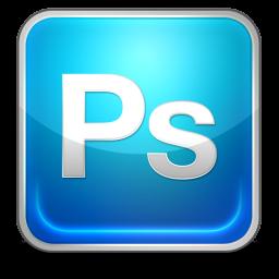 Glossy Blue Photoshop Square Icon Png Clipart Image Iconbug Com