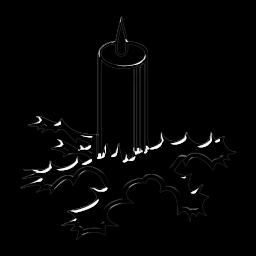 Glass Christmas Candle Icon Png Clipart Image Iconbug Com
