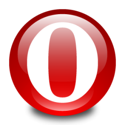 Opera White And Red Circle Icon Png Clipart Image Iconbug Com