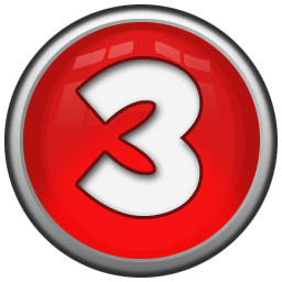Red Number Three Icon Png Clipart Image Iconbug Com