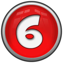 red number six icon png clipart image iconbug com