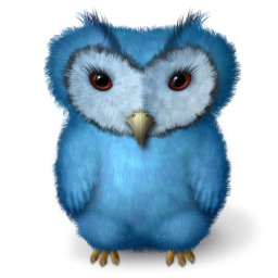 Blue Barn Owl Icon Png Clipart Image Iconbug Com