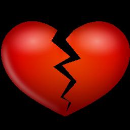 Broken Heart Icon Png Clipart Image Iconbug Com