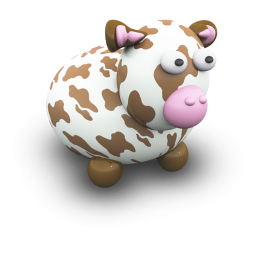 Brown Cow Icon Png Clipart Image Iconbug Com