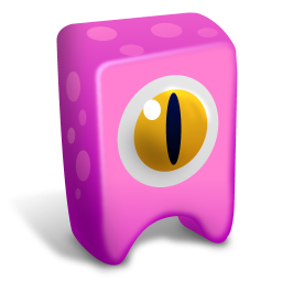 Pink Cyclops Icon Png Clipart Image Iconbug Com