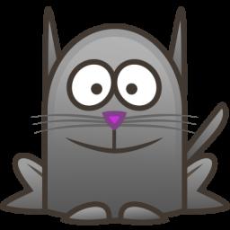 Little Black Cat Icon Png Clipart Image Iconbug Com