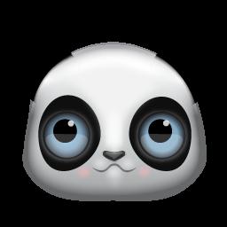 Panda Face Icon Png Clipart Image Iconbug Com