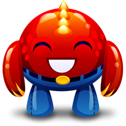 Happy Red Monster Icon Png Clipart Image Iconbug Com