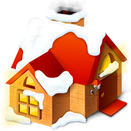 Winter Home Icon PNG ClipArt Image