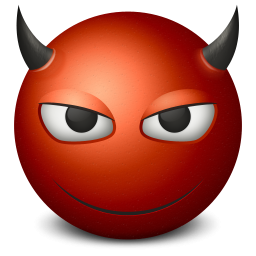 Smiling Red Devil Icon, PNG ClipArt Image