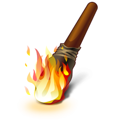 Torch Icon PNG ClipArt Image