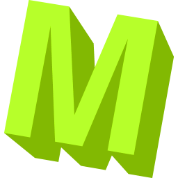 Neon Green M Icon Png Clipart Image Iconbug Com