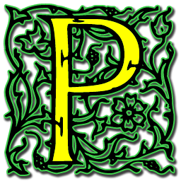 Artistic P Icon PNG ClipArt Image