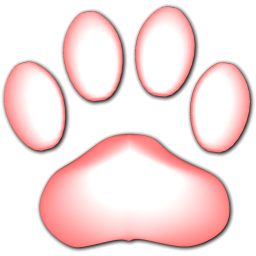 Pink Cat Paw Print Icon Png Clipart Image Iconbug Com