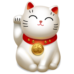 Waving Cat 2 Icon Png Clipart Image Iconbug Com