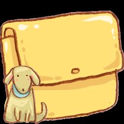 Dog Folder Crayon Icon Png Clipart Image Iconbug Com