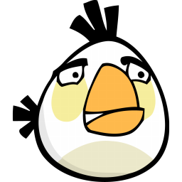 White Angry Bird Icon Png Clipart Image Iconbug Com