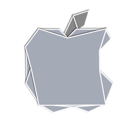 Apple Logo Origami Icon PNG ClipArt Image