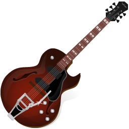 Electric Guitar Icon PNG ClipArt Image