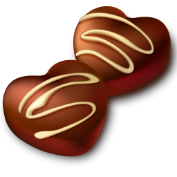 chocolate hearts icon png clipart image iconbug com rh iconbug com Chocalte Heart Chocolate Candy Heart Clip Art