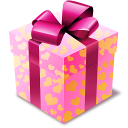 Pink gift icon png clipart image iconbug format png negle Images