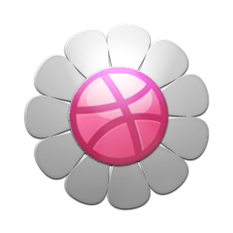 Flower Dribbble Icon Png Clipart Image Iconbug Com