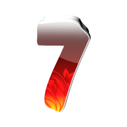 number 7 PNG | 256x256