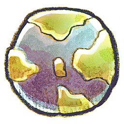 Crayon Earth Icon Png Clipart Image Iconbug Com