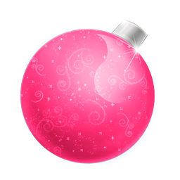 Christmas Pink Ball Icon Png Clipart Image Iconbug Com