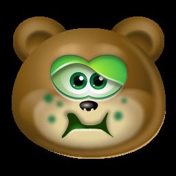 Sick Bear Icon Png Clipart Image Iconbug Com